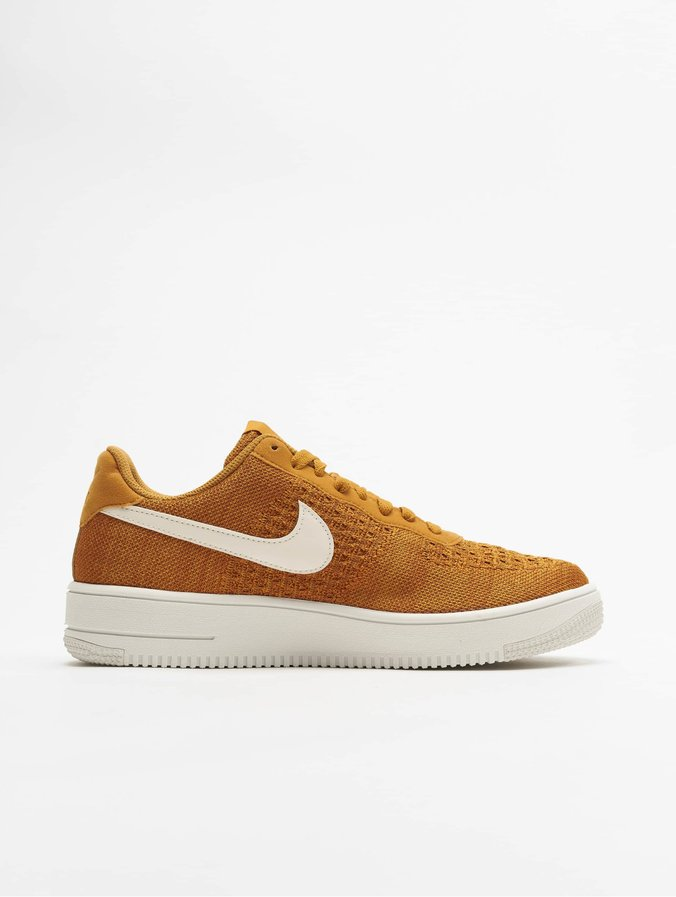 purchase cheap d3487 9b36c Nike Air Force 1 Flyknit 2.0 Sneakers Golden Suede/Sail/Burnt Sienna