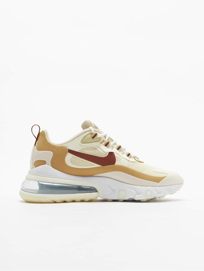 Nike Air Max 270 React Sneakers Team GoldenCinnamonClub GoldenPale Ivory