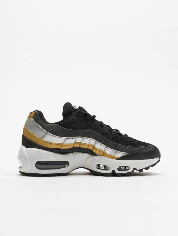 Nike Womens Air Max 95 Sneakers Black/Metallic Golden-Metallic Silvern