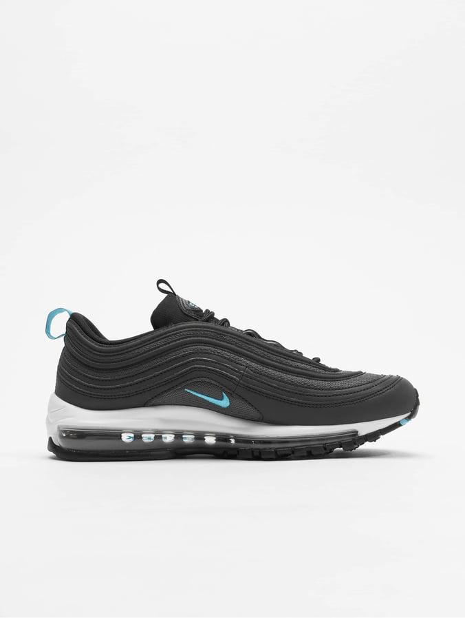 Nike Air Max 97 Low Top Sneakers Black/Blue Fury/Dark Grey