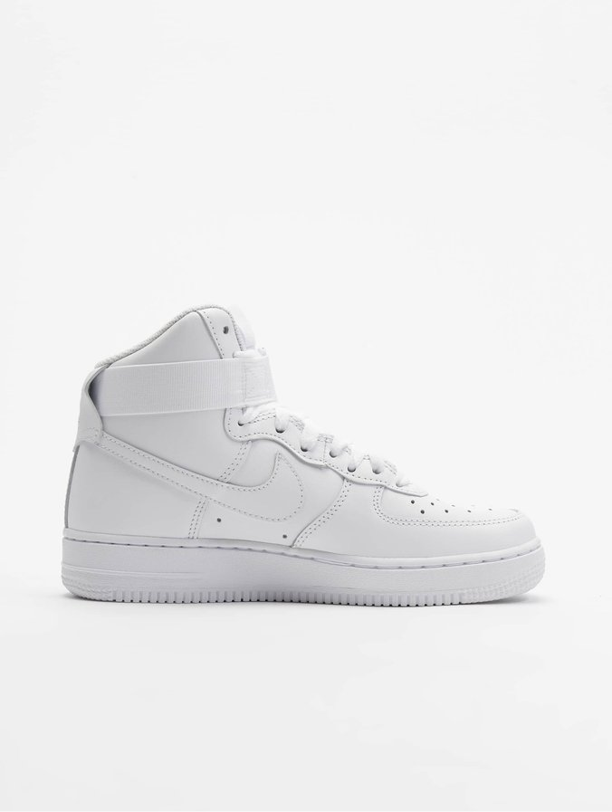 100% genuine wholesale sales on feet shots of Nike Air Force 1 High Sneakers White/White/White