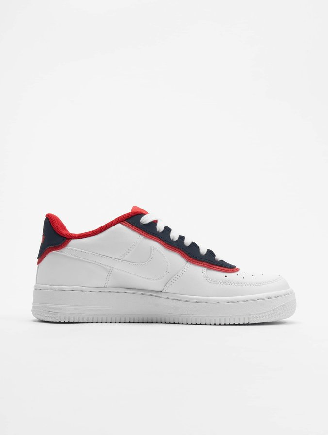 Nike Air Force 1 LV8 1 DBL GS Sneakers WhiteWhiteObsidianUniversity Red