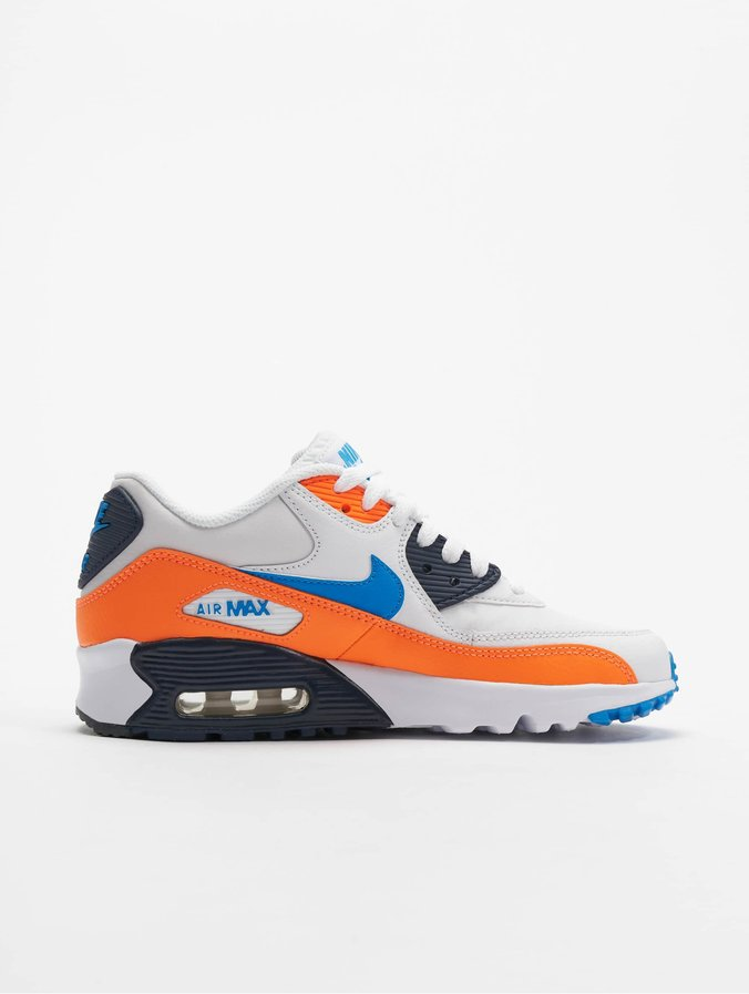 Nike Air Max 90 LTR (GS) Sneakers WhitePhoto BlueTotal Orange