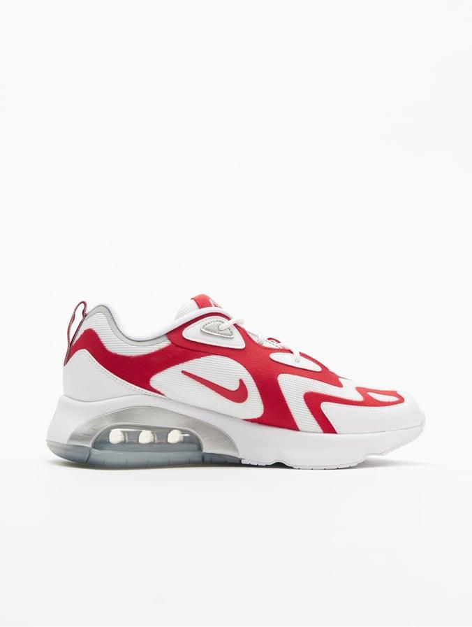 Nike Air Max 200 Sneakers WhiteUniversity RedMetallic Silvern