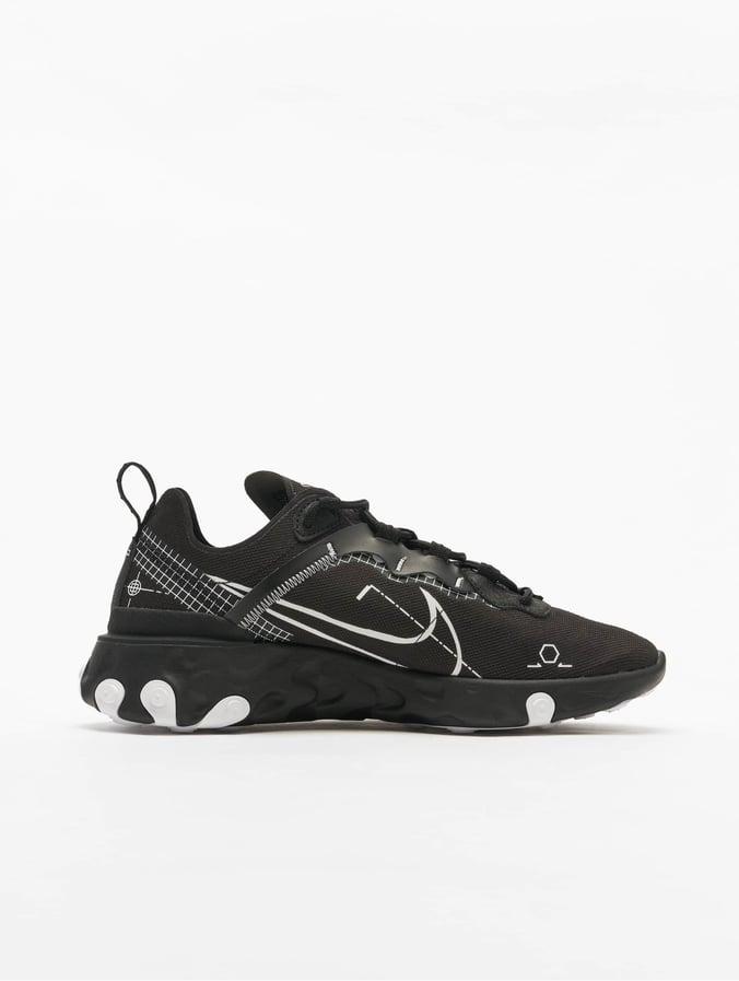 Nike React Element 55 Sneakers BlackWhite