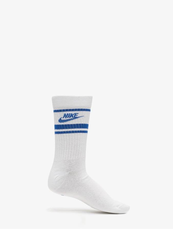 Nike Crew Essential Stripe Socks WhiteGame RoyalGame Royal