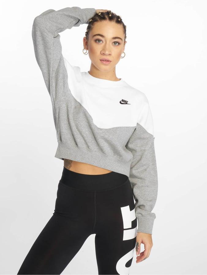check-out f4a3d 40828 Nike Sportswear Sweatshirt Dk Grey Heather/White/Black