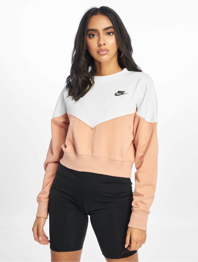 Nike Heritage Crew Fleece Sweatshirt Rose Golden/Sail/Black