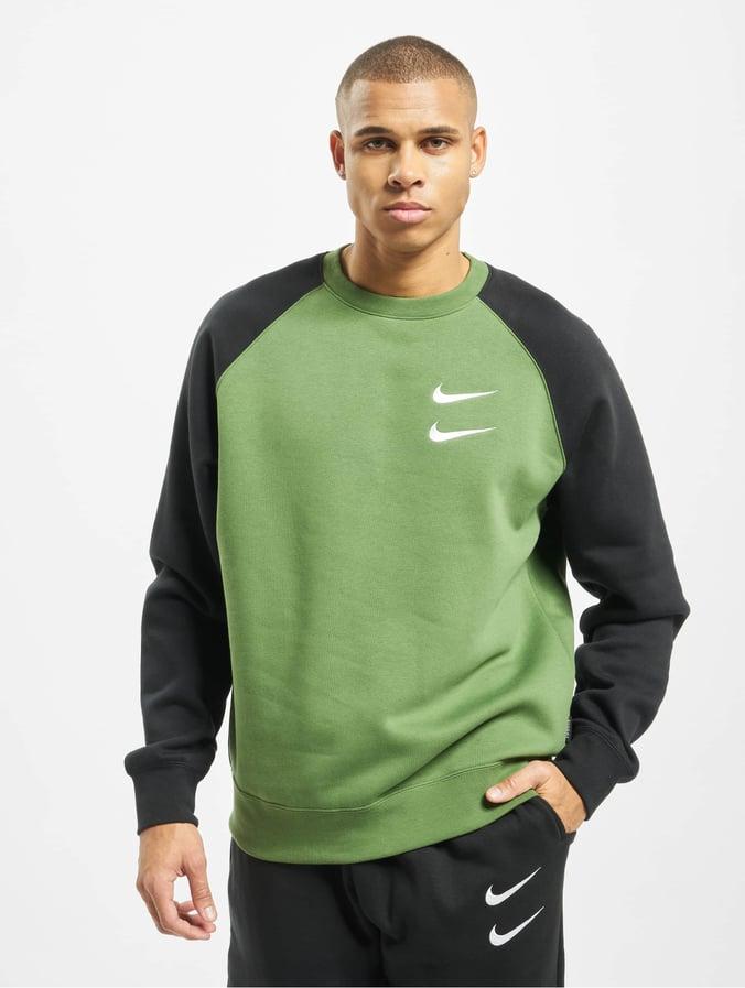 Nike Swoosh Crew BB Sweatshirt TreelineBlackWhite