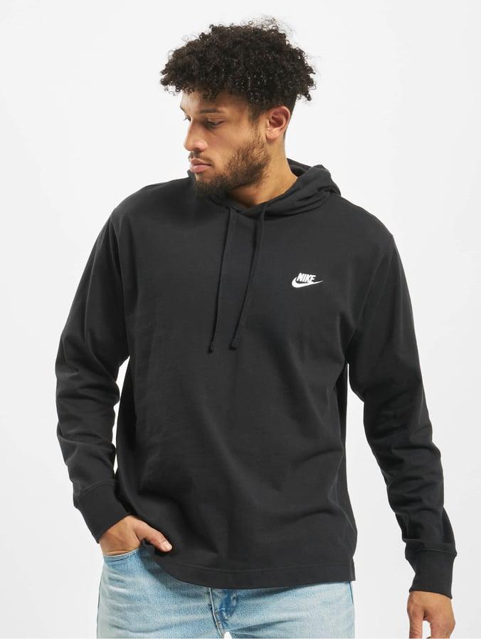 Nike Club Hoodie BlackWhite