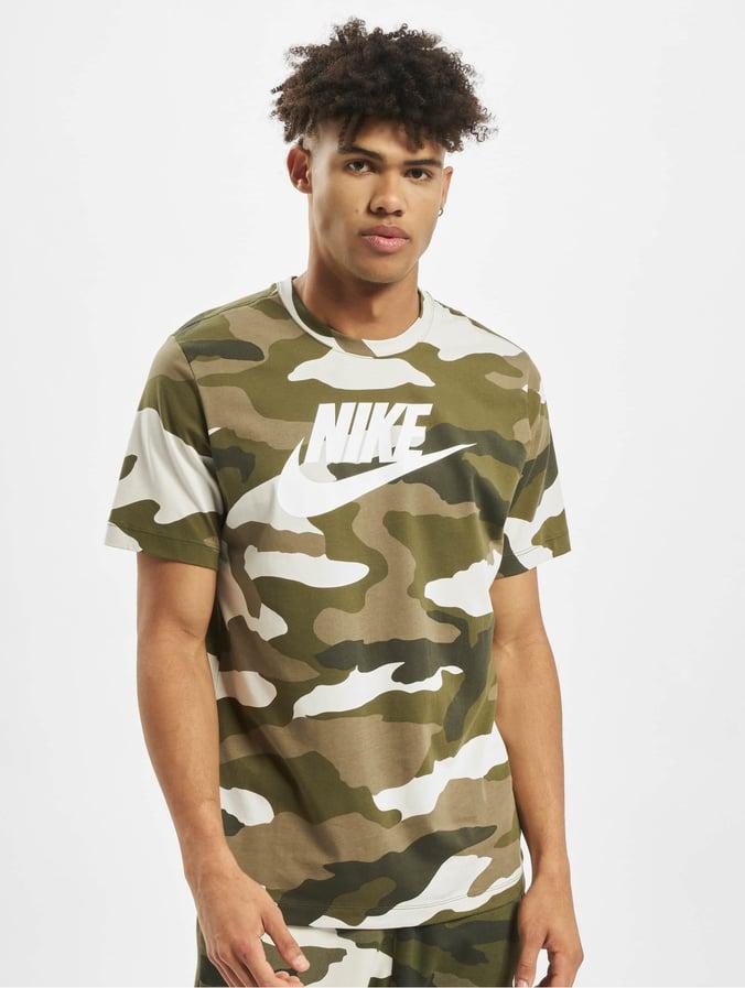 Nike Camo 1 T Shirt Light BoneMedium OliveWhite