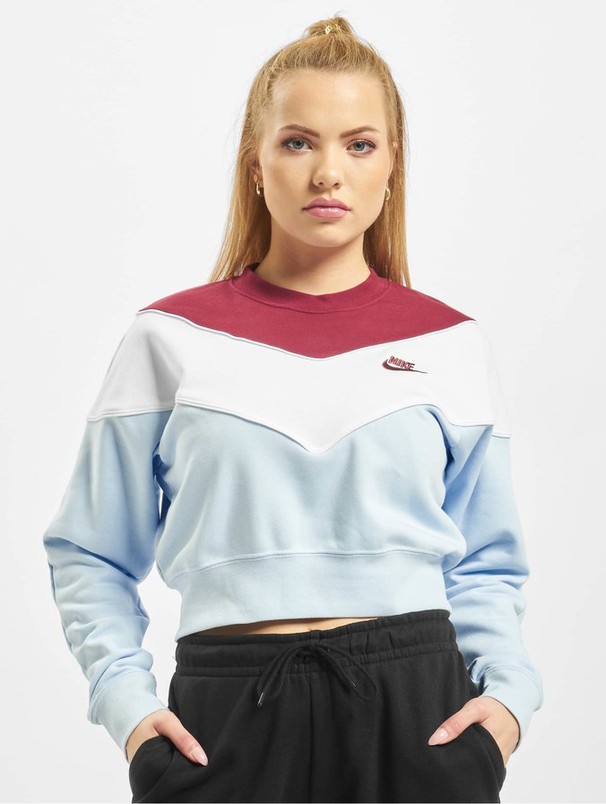 Nike Heritage Crew SB Sweatshirt Celestine Blue/Team Red/White/Team Red