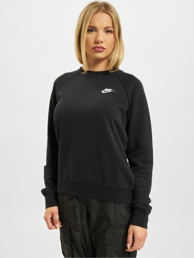 NIKE ESSENTIAL CREW FLEECE SWEATER ZWART DAMES