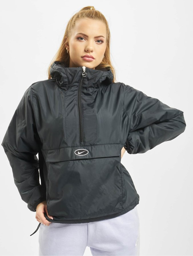 best website unique design fashion style Nike Swoosh Synthetic Fill Anorak Jacket Black/White