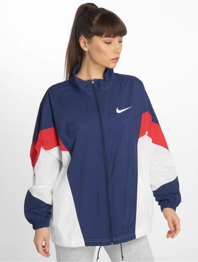 shoes for cheap buy popular pretty nice Nike Sportswear Windrunner Jacket Blue Void/University Red/White/White