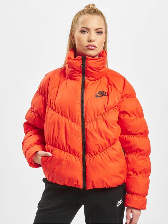 veste nike orange femme