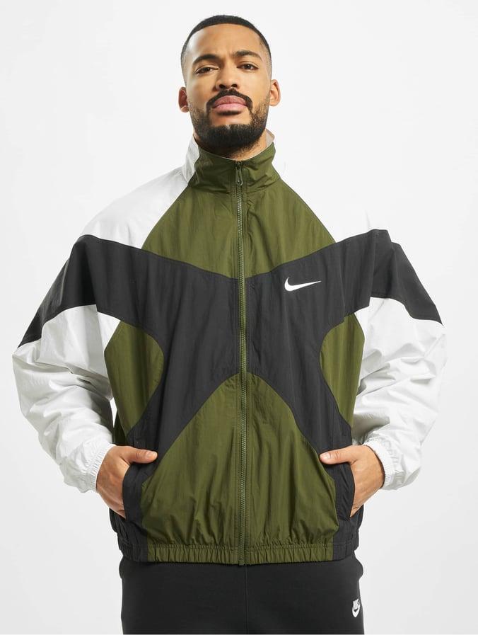 Nike Re Issue Woven Jacket Legion GreenWhiteBlackWhite