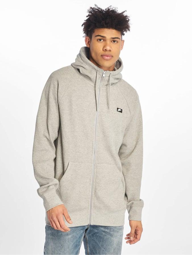 Nike Me Hoodie FZ Waffle Zip Hoody Dark Grey Heather