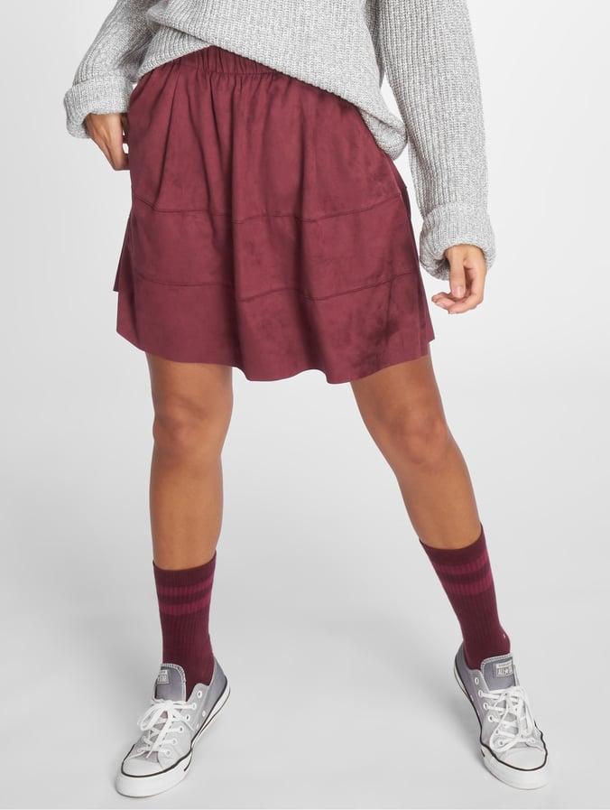 Noisy May nmLauren Fake Suede Skirt Port Royale