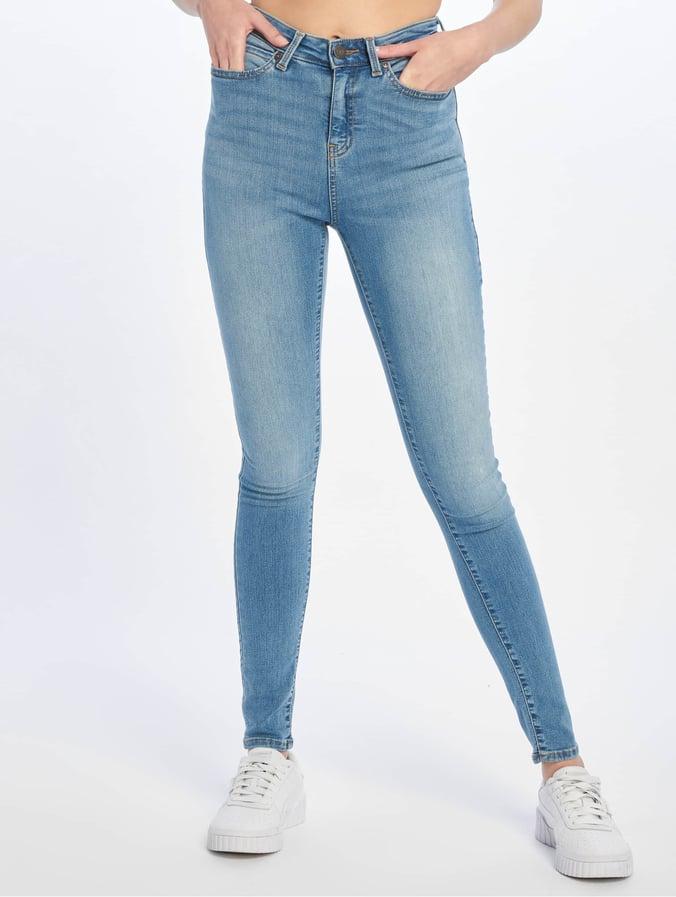 f49aacbb2119b1 Noisy May Damen Skinny Jeans nmLexi in blau 624870