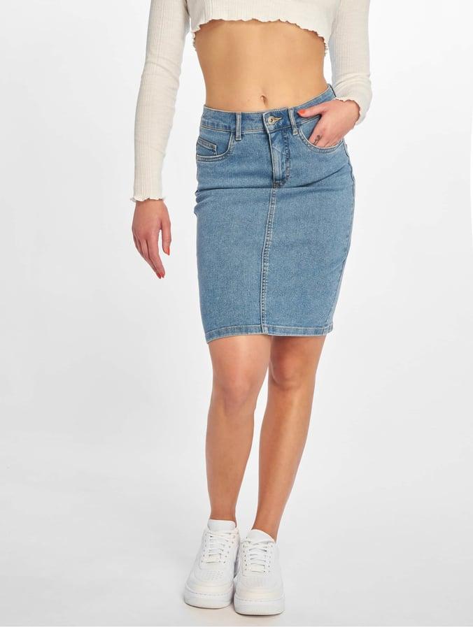2a224230694f Only onlKiss High Denim Skirt Light Blue Denim