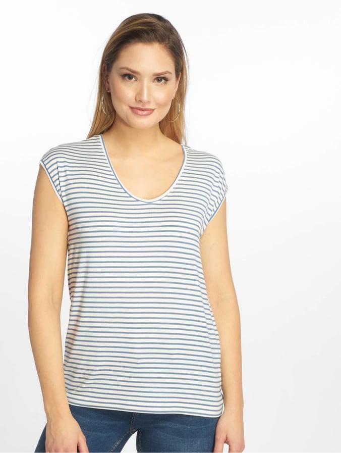 Pieces pcBillo New Noos T Shirt Bright WhiteCoronet Blue