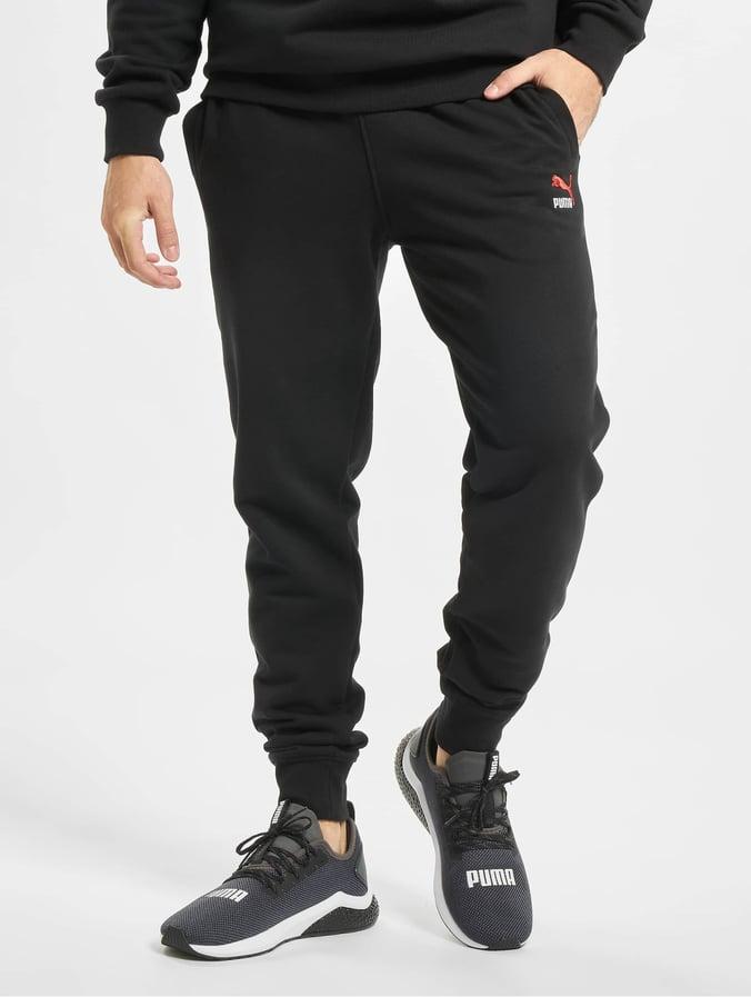 Puma Classics Emb Sweat Pants Cotton BlackRed
