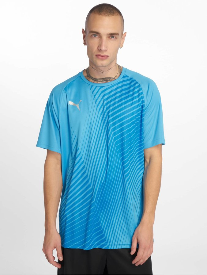 Puma Performance Ftblnxt Graphic Core T Shirt Bleu AzurRed Blast