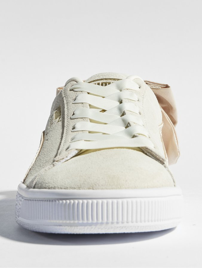 Puma Suede Bow Varsity Sneakers Marshmallow/Metallic Golden