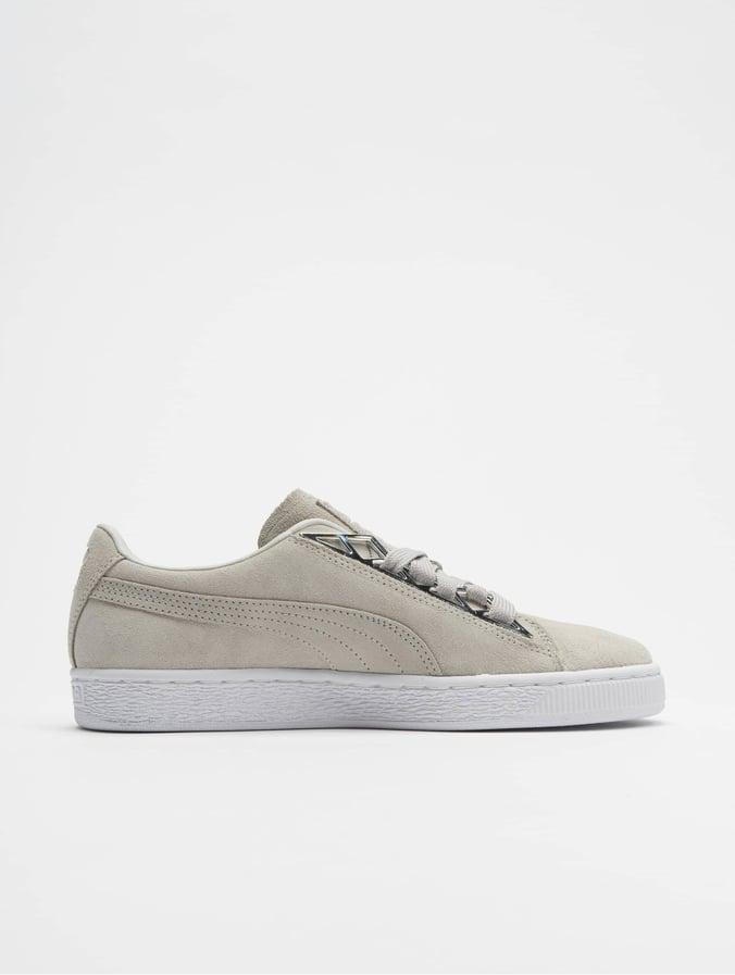 meet 56f92 00603 Puma Suede Jewel Metalic Sneakers Glacier Gray/Glacier Gray