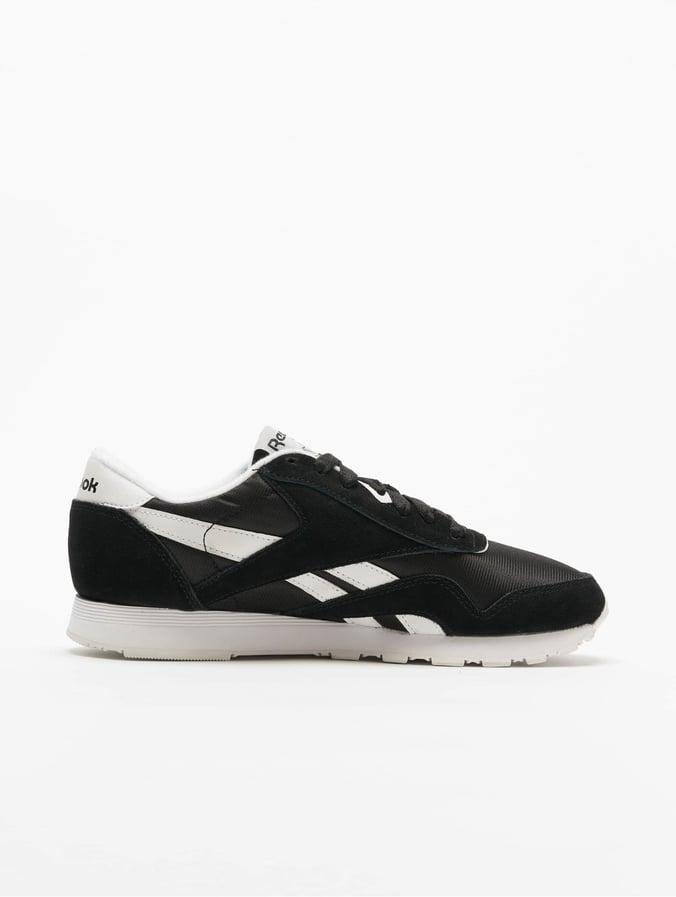 Reebok Classic Nylon Sneakers BlackWhite