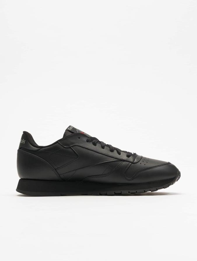 Heren Fitted Reebok CL Leather Casual Schoenen (Black