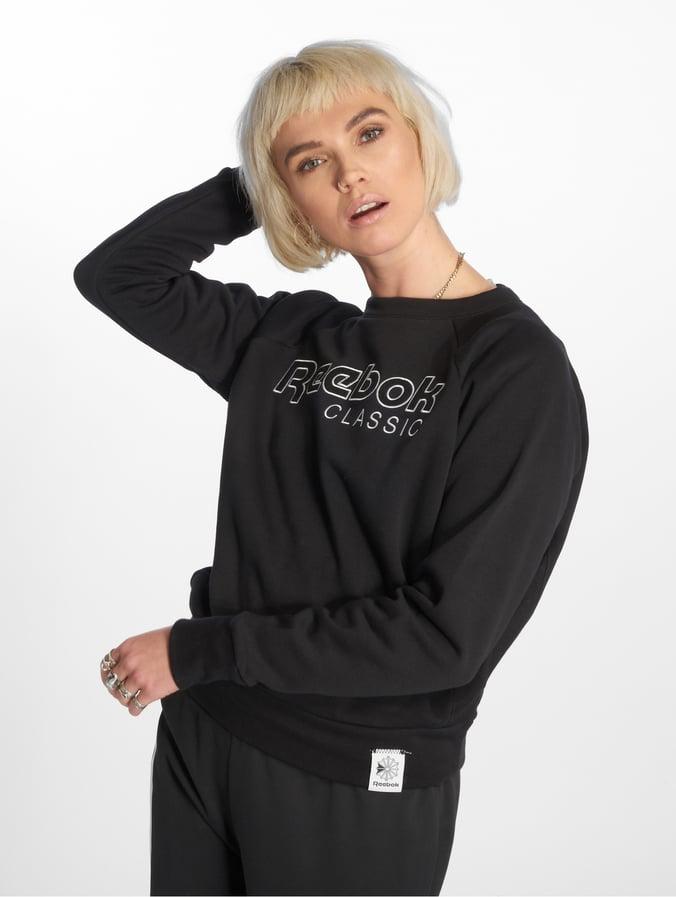 ba89b393d76e Reebok   Ac Iconic Fl noir Femme Sweat & Pull 464059