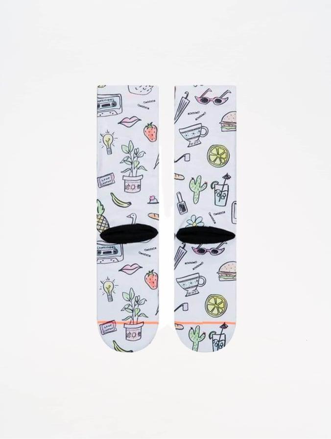 Foundation List Stance Socks White Shopping H9EDI2