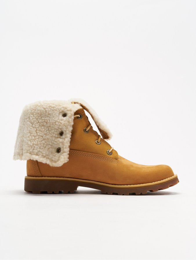 0eb880b10ab4b4 Timberland | 6 Inch Waterproof Shearling beige Femme Chaussures ...