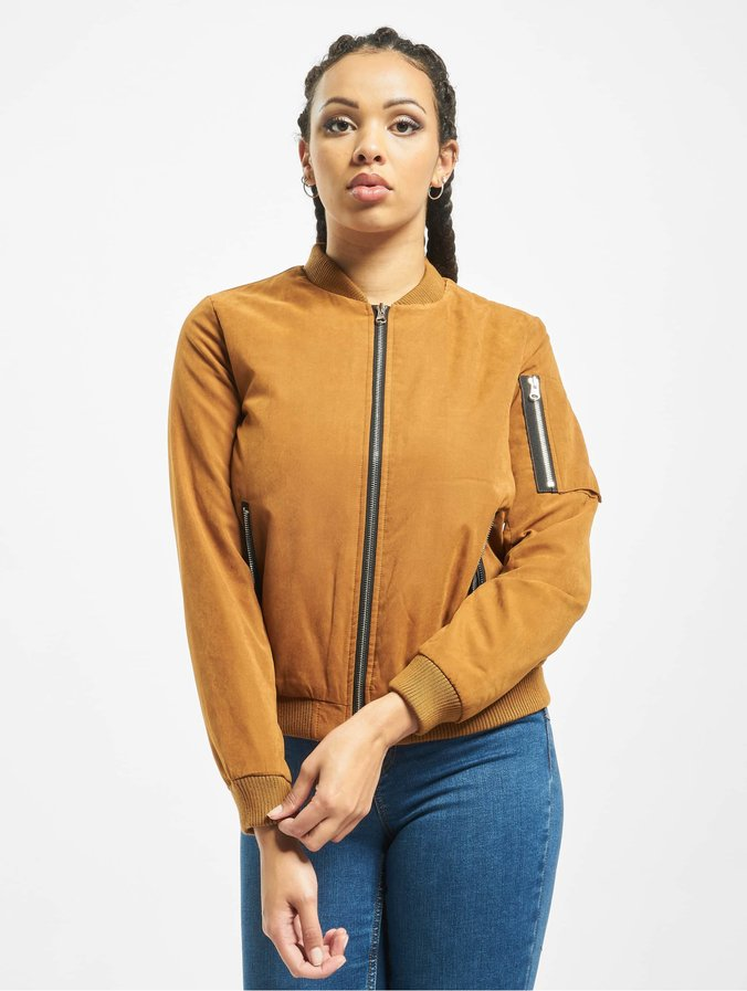 meet fcf40 3902a Urban Classics Ladies Peached Bomber Jacket Toffee