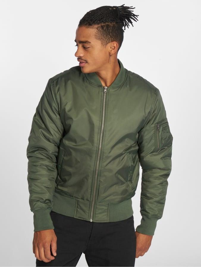 quality design e259d f8882 Urban Classics Basic Bomber Jacket Olive