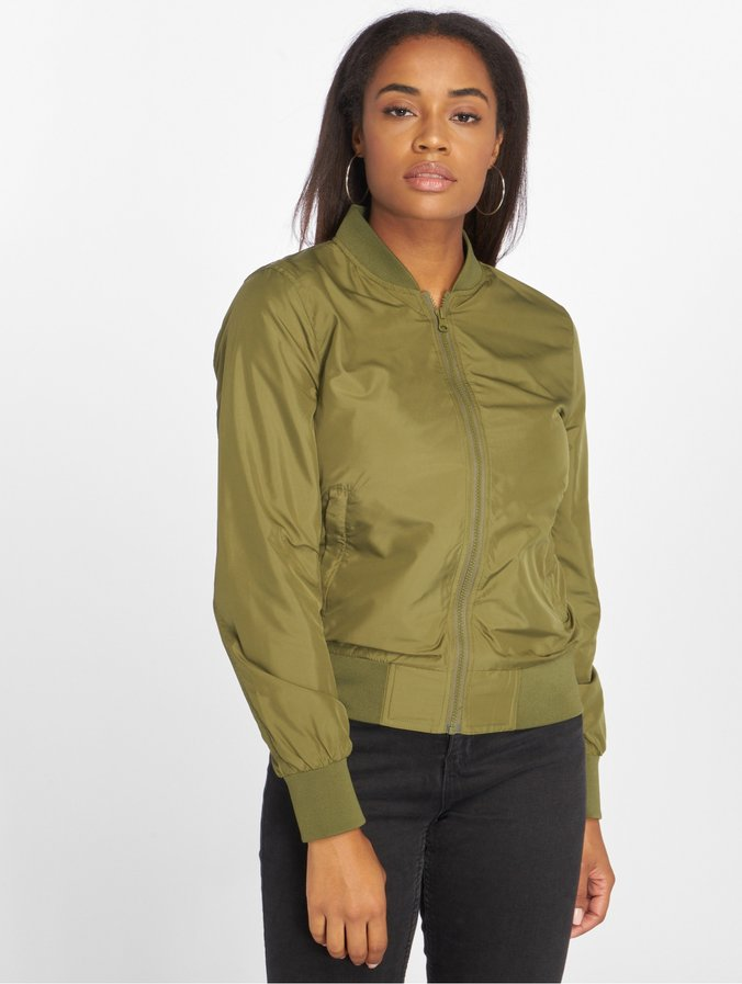 official photos 7c28f 33d4e Urban Classics Ladies Light Bomber Jacket Olive