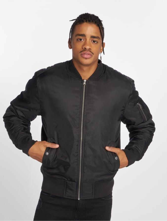 Urban Classics Basic Bomber Jacket Black