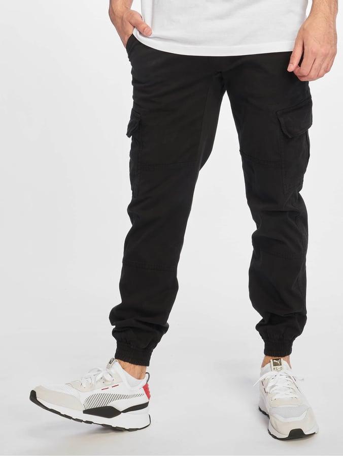 Rabatt Bestellung Qualitätsprodukte Urban Classics Washed Cargo Twill Jogging Pants Black