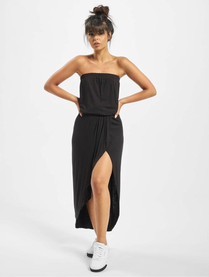 beste waarde veel modieus hier online Urban Classics Ladies Viscose Bandeau Dress Black