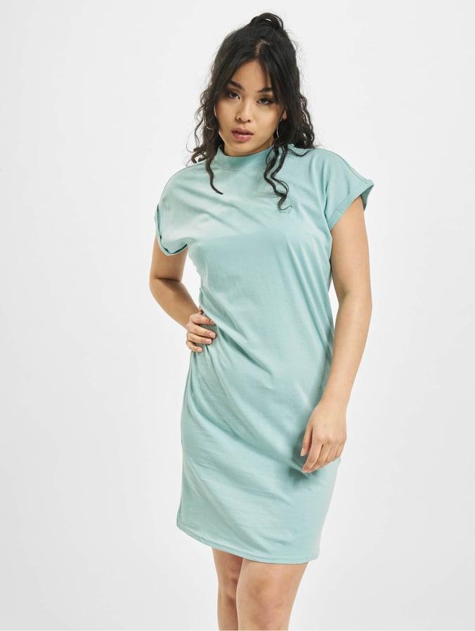 Urban Classics Turtle Extended Shoulder Dress Hawaiianblue