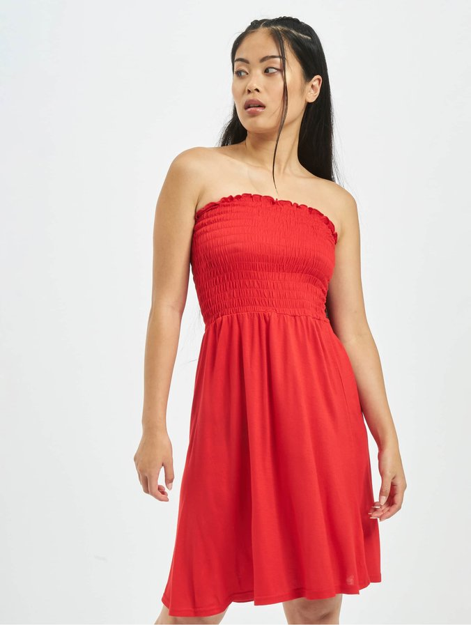 Urban Classics Smoke Bandeau Dress Fire Red
