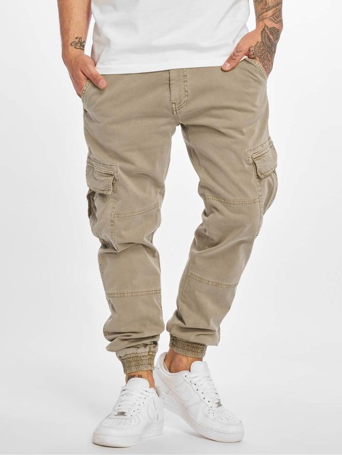ff2834c7a Urban Classics Washed Cargo Twill Jogging Pants Sand