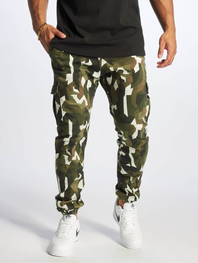 super populaire 46389 4946a Urban Classics Geometric Stretch Twill Cargo Pants Wood Camo