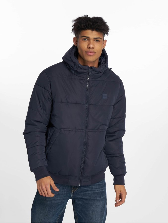 Urban Classics Hooded Peach Puffer Jacket Navy