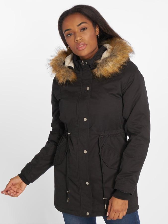 feine handwerkskunst groß auswahl heißer verkauf billig Urban Classics Ladies Sherpa Lined Peached Parka Black