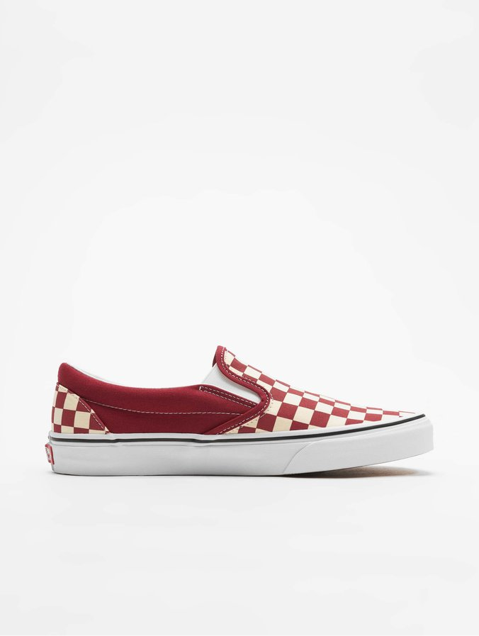the best attitude 85af1 cbd7a Vans UA Classic Slip-On Sneakers Checkerboard Rumba Red/White