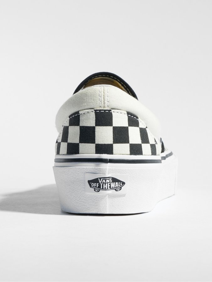 Vans Classic Slip On Platform Sneakers BlackTrue White