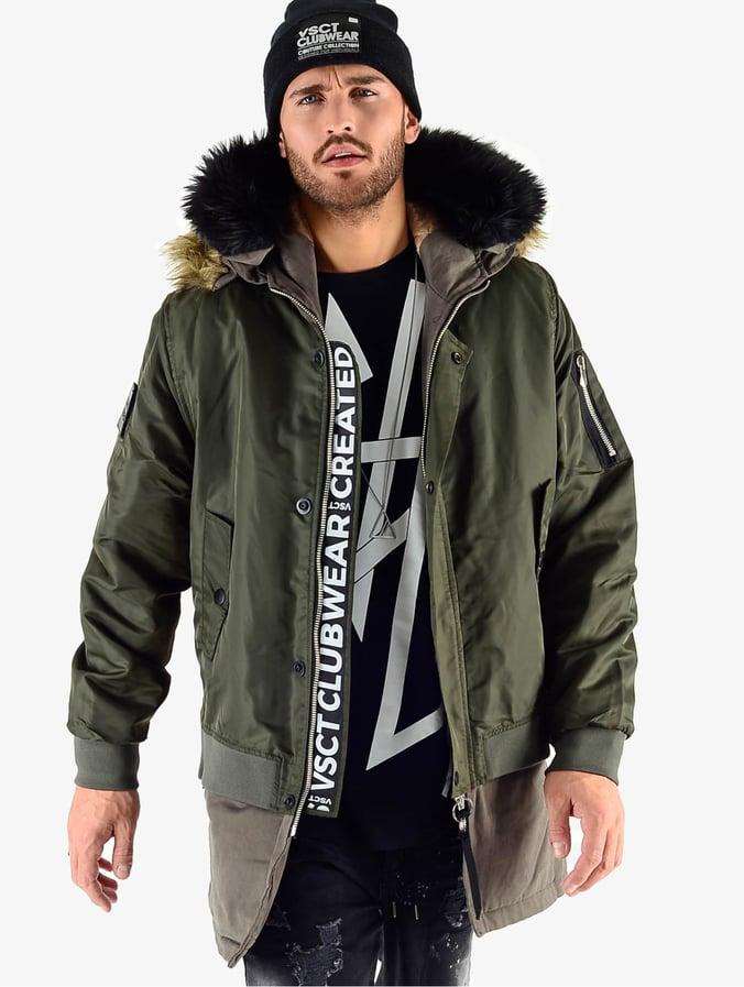 50% Preis mehrere farben neueste Art von VSCT Clubwear 2 In 1 Assasin Bomber Jacket Khaki